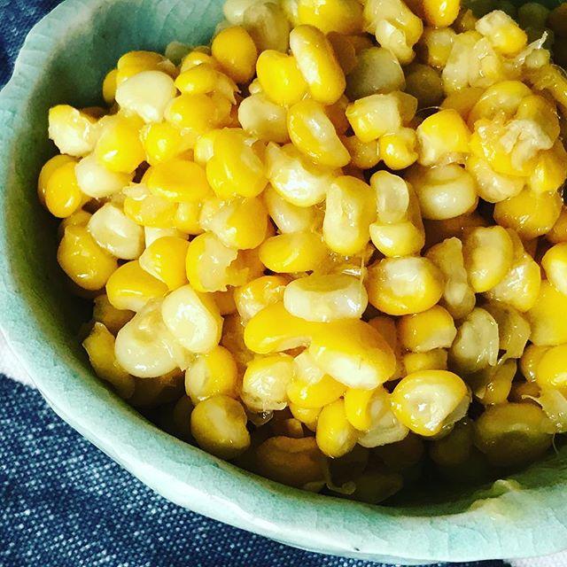 トウモロコシの美味しい季節。生でも茹でても食べられるけど、やっぱり「バター醤油コーン」は鉄板レシピ